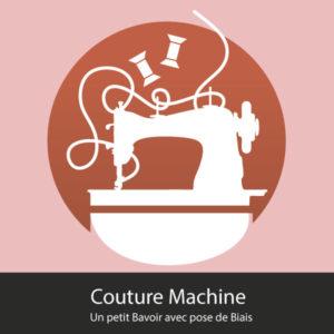 atelier couture machine petit bavoir avec pose de biais Orleans