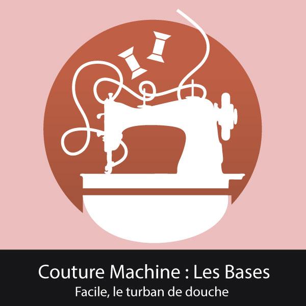 atelier couture machine Orléans turban de douche