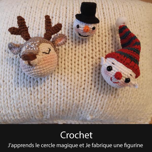 Atelier crochet à Orléans: J'apprends le cercle magique 2. Je fabrique une figurine